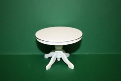 Esstisch rund, mit weißer Säule