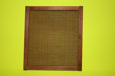 Sichtschutz rotbraun, Holz/Kunststoff