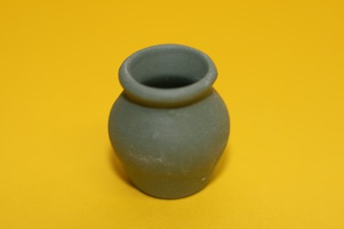 Vase grün, matt