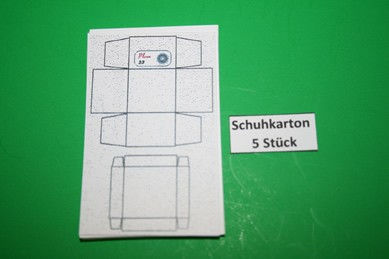 Schuhkartons klein - 5 Stück, 1:12