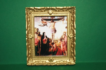 """Kreuzigung Christi"", Goldrahmen"