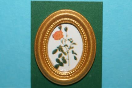 Miniatur-Bild oval, Rosen