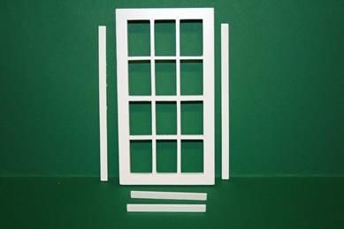 Doppelsprossen-Fenster fest, weiß, Holz, mit Innenrahmen