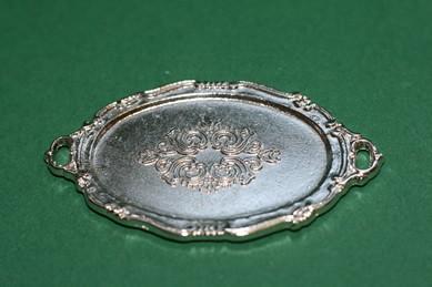 """""""Silber""""-Tablett oval"""