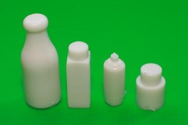 Behälter-Attrappen, Kunststoff weiß - 4 Stück