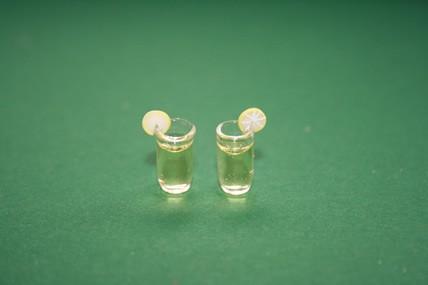 Cocktailgläser m. Zitronenscheiben, Glas - 2 Stück