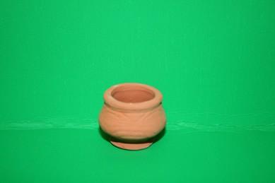 Terracotta-Gartenvase, rund