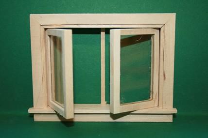 Fenster - mit 2 Flügeln zum Öffnen, natur roh