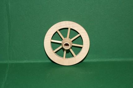 Speichen-Holzrad mit Nabe, roh, 1:12