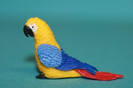 Papagei groß, gelb/blau/rot