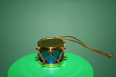Trommel, blau/gold
