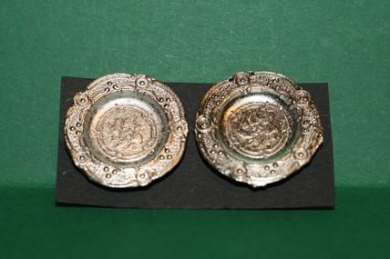 Silberteller - 2 Stück, 1:12