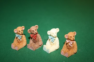 Teddy-Set - 4 Stück