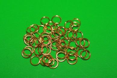 Ringe, Metall goldfarben - 50 Stück