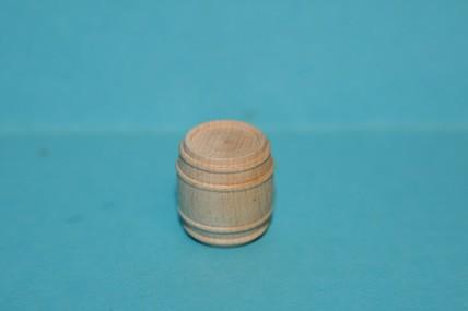 Mini-Fass, Holz natur, 1:12