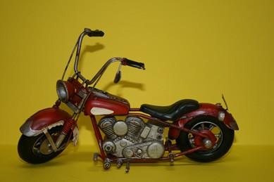 Motorrad, rot