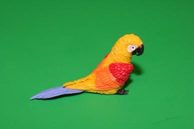Papagei groß, gelb/rot/orange/blau