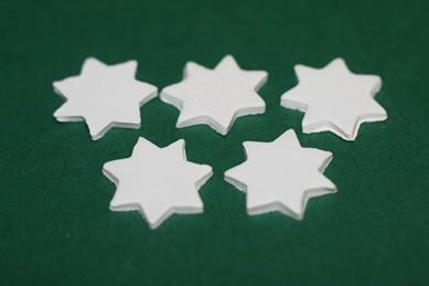 Sterne weiß - 5 Stück