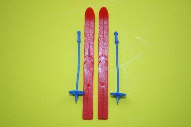 Skier, Kunststoff, rot