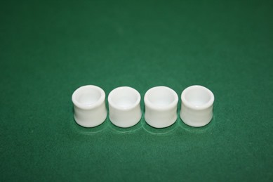 Behälter weiß, rund - ohne Deckel, Porzellan - 4 Stück