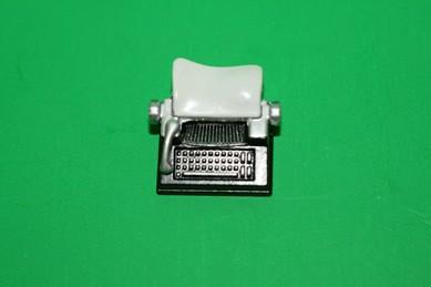 Schreibmaschine, schwarz/silber