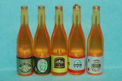 Bierflaschen - 5 Stück, 1:12