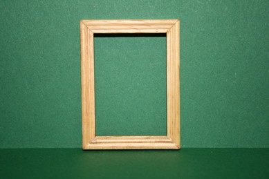 Bilderrahmen klein, Holz hell, lackiert