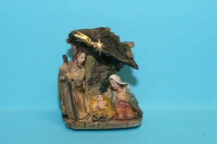 Krippe (Josef linke Seite), Keramik, 1:12
