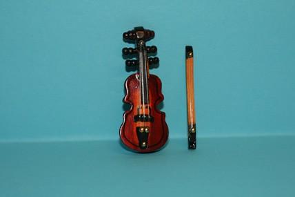 Geige mit Geigenbogen, 1:12