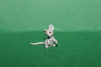 Mini-Maus, sitzend, Kunststoff - 3 Stück