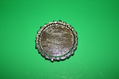Tablett rund, silber, Metall