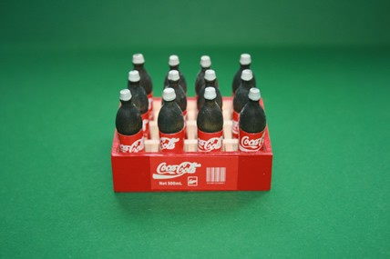 Cola-Kiste mit 12 Flaschen