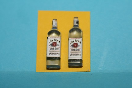 Jim Beam-Flaschen - 2 Stück, 1:12