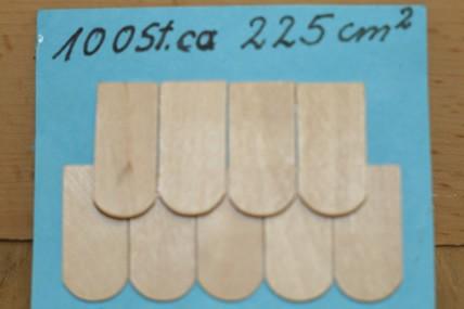 Holzschindeln natur, roh, 100 Stück, 1:12