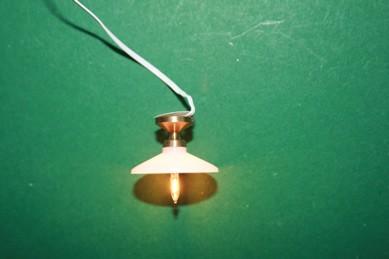 Hängelampe mit Beleuchtung, 12 V., weiß