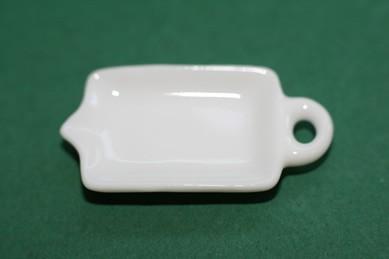 Tablett weiß, Porzellan