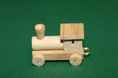 Lokomotive, Holz natur