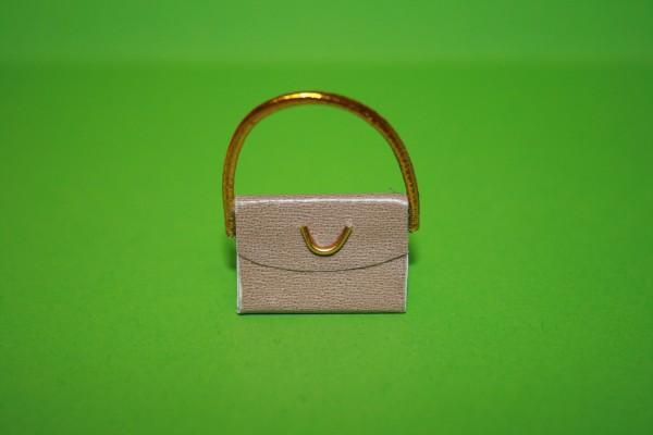 Handtasche hellbraun, Kunstleder