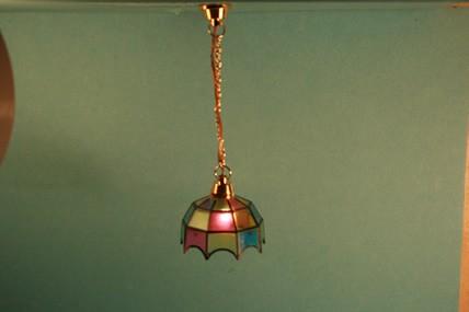 """Hängelampe """"Tiffany"""", bunt, 12 V., 1:12"""