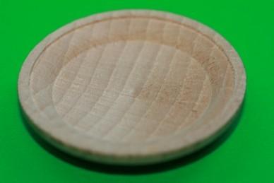 Holzteller, Holz roh
