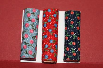 Stoffballen Blumenmuster klein - 3 Stück, 1:12