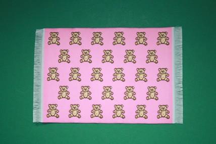Teddy-Teppich rosa, Seidenoptik