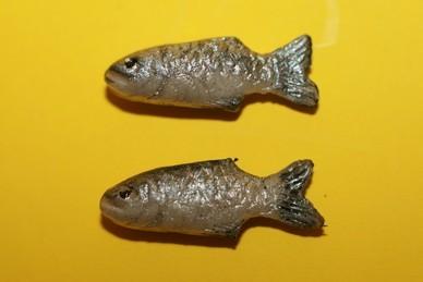 Fische, silber - 2 Stück