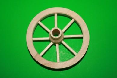 Speichen-Holzrad mit Nabe, Holz roh
