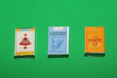 Zigaretten-Packungen - 3 Stück, Ernte 23, HB, Gauloises
