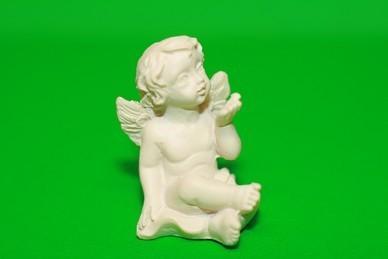 Engel, linke Hand ausgestreckt, Polyresin