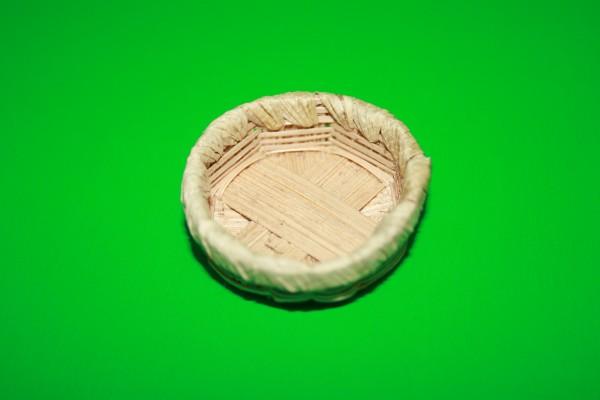 Miniatur Brotkorb Rand umflochten 1:12