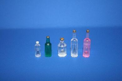 Flaschen, neutral - 5 Stück