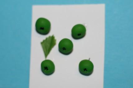 Äpfel grün - 5 Stück, 1:12