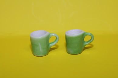 Henkel-Becher grün - 2 Stück
